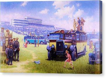 Derby Day Epsom Canvas Print by Mike  Jeffries