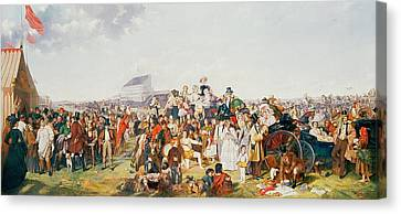 Derby Day Canvas Print by William Powell Frith