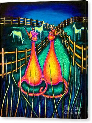 Derby Kats Canvas Print by Laurie Tietjen