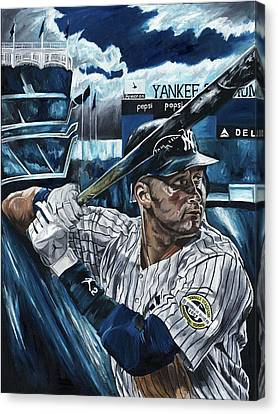 Derek Jeter Canvas Print by David Courson