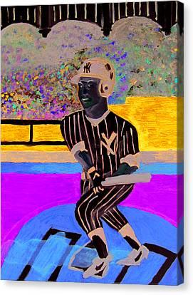 Derek Jeter Canvas Print by Jeff Caturano