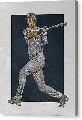 Derek Jeter New York Yankees Art 2 Canvas Print by Joe Hamilton