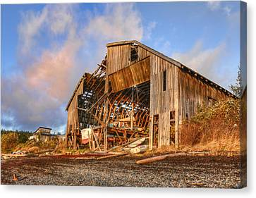 Derelict Boatshed Canvas Print by Darryl Luscombe