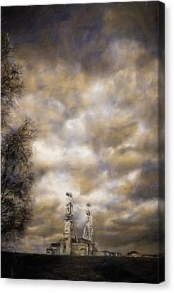 Derelict Coal Mine By Js Canvas Print