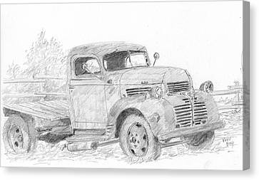 Old Trucks Canvas Print - Derelict Dodge by David King