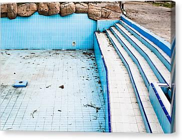 Derelict Pool Canvas Print by Tom Gowanlock