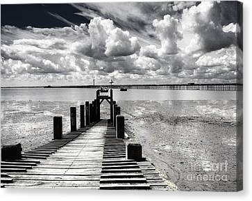 Derelict Wharf Canvas Print by Avalon Fine Art Photography