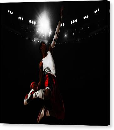 Derrick Rose I Rise Canvas Print by Brian Reaves