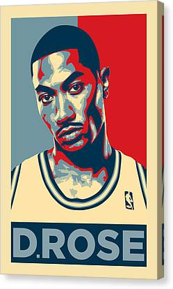 Chicago Bulls Canvas Print - Derrick Rose by Taylan Apukovska