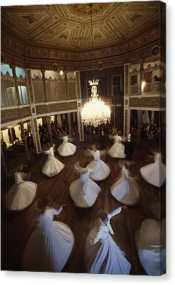 Dervishes Perform A Ritual Dance Canvas Print by James L. Stanfield