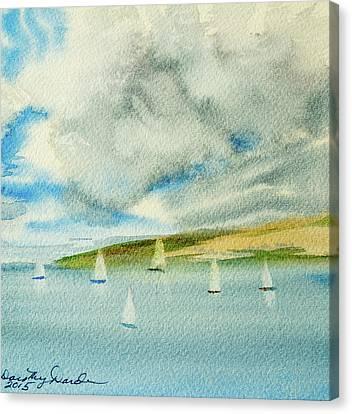 Dark Clouds Threaten Derwent River Sailing Fleet Canvas Print