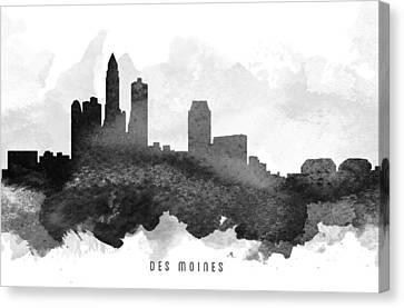 Des Moines Cityscape 11 Canvas Print by Aged Pixel