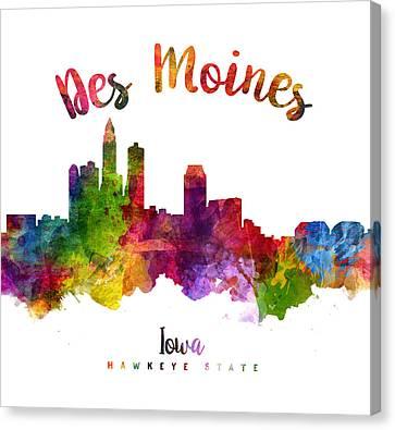 Des Moines Iowa 23 Canvas Print by Aged Pixel