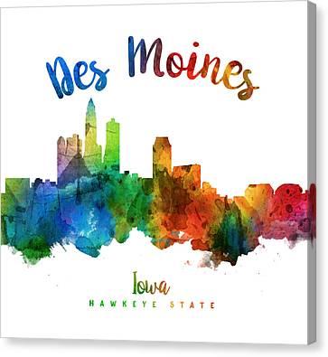 Des Moines Iowa 25 Canvas Print by Aged Pixel