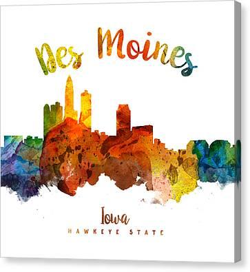 Des Moines Iowa 26 Canvas Print by Aged Pixel