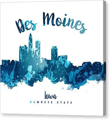 Des Moines Iowa 27 Canvas Print by Aged Pixel