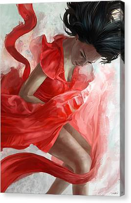 Dancing Canvas Print - Descension by Steve Goad