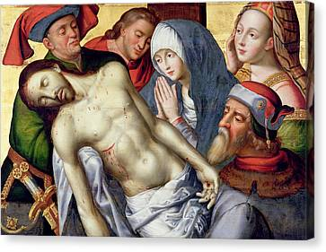 Descent From The Cross Canvas Print by Hugo van der Goes