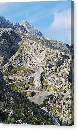 Descent To Sa Calobra On Majorca Canvas Print
