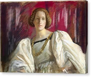 Gold Chain Canvas Print - Desdemona by Edwin Austin Abbey