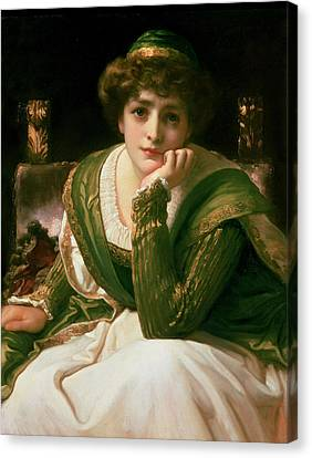 Chin On Hand Canvas Print - Desdemona by Frederic Leighton