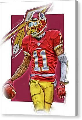 Desean Jackson Washington Redskins Oil Art Canvas Print