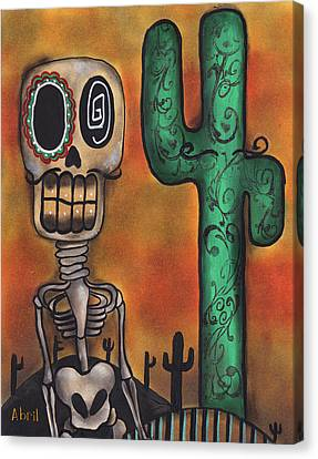 Desert Canvas Print by  Abril Andrade Griffith