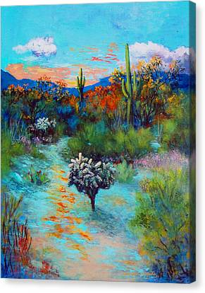 Desert At Dusk Canvas Print by M Diane Bonaparte