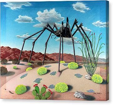 Desert Bug Canvas Print by Snake Jagger