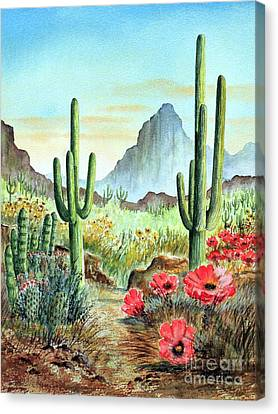 Desert Cacti - After The Rains Canvas Print