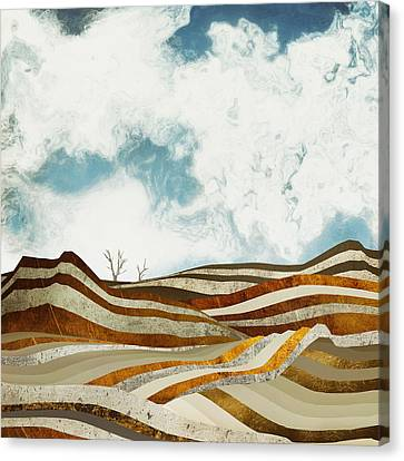Textured Landscape Canvas Print - Desert Calm by Spacefrog Designs
