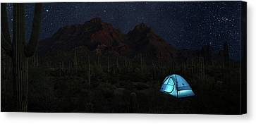 Desert Camping Canvas Print