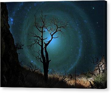 Desert Canyon Whirlpool Galaxy Canvas Print by Barbara Chichester