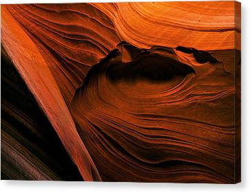 Desert Carvings Canvas Print by Mike  Dawson