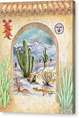 Desert Christmas Canvas Print by Marilyn Smith
