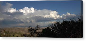 Canvas Print featuring the photograph Desert Clouds by Farol Tomson