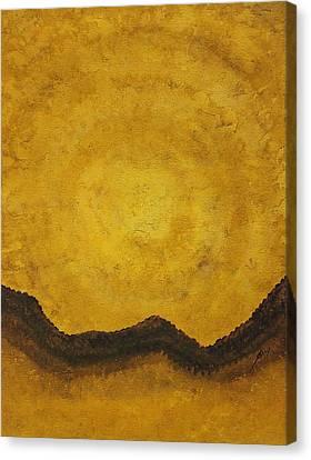 Desert Daybreak Original Painting Canvas Print