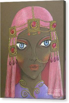 Desert Diva -- Whimsical Arabic Woman Canvas Print