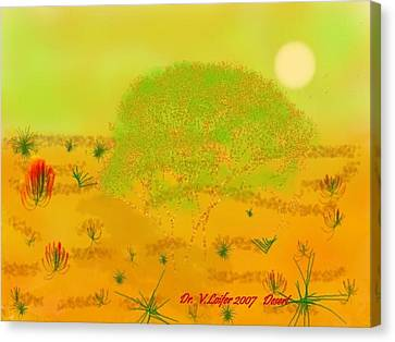 Canvas Print featuring the digital art Desert by Dr Loifer Vladimir