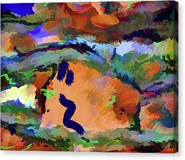 Canvas Print featuring the mixed media Desert Excess by Lynda Lehmann