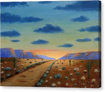 Carefree Arizona Canvas Print - Desert Highway by Gordon Beck