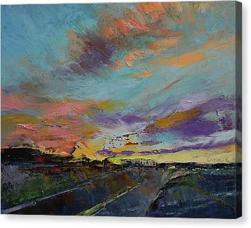 Desert Highway Canvas Print by Michael Creese