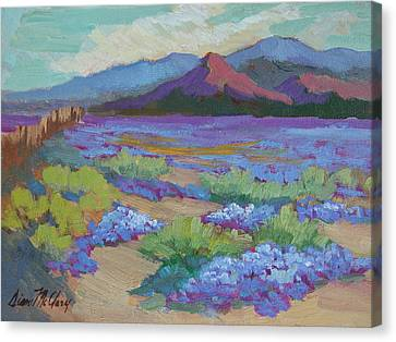 Canvas Print featuring the painting Desert In Bloom by Diane McClary