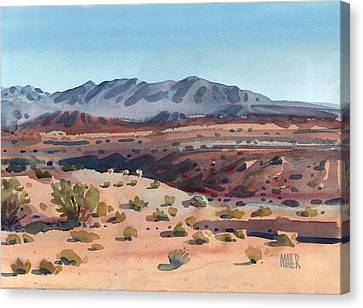 Desert In New Mexico Canvas Print by Donald Maier