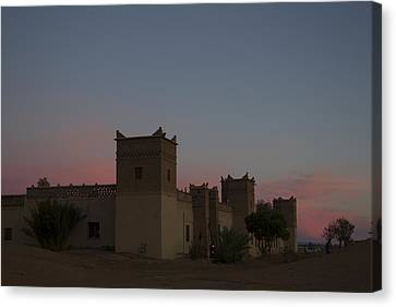 Canvas Print featuring the tapestry - textile Desert Kasbah Morocco 2 by Kathy Adams Clark