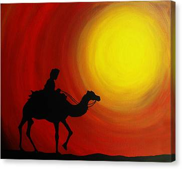 Desert King Canvas Print by Ramneek Narang