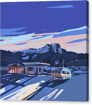 Desert Landscape 2 Canvas Print by Bekim Art
