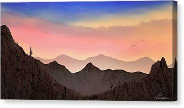 Canvas Print featuring the photograph Desert Landscape by Anthony Citro