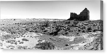 Desert Landscape - Arches National Park Moab, Utah Canvas Print