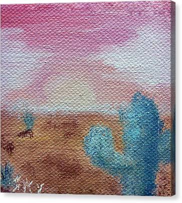 Desert Landscape Canvas Print by Jera Sky